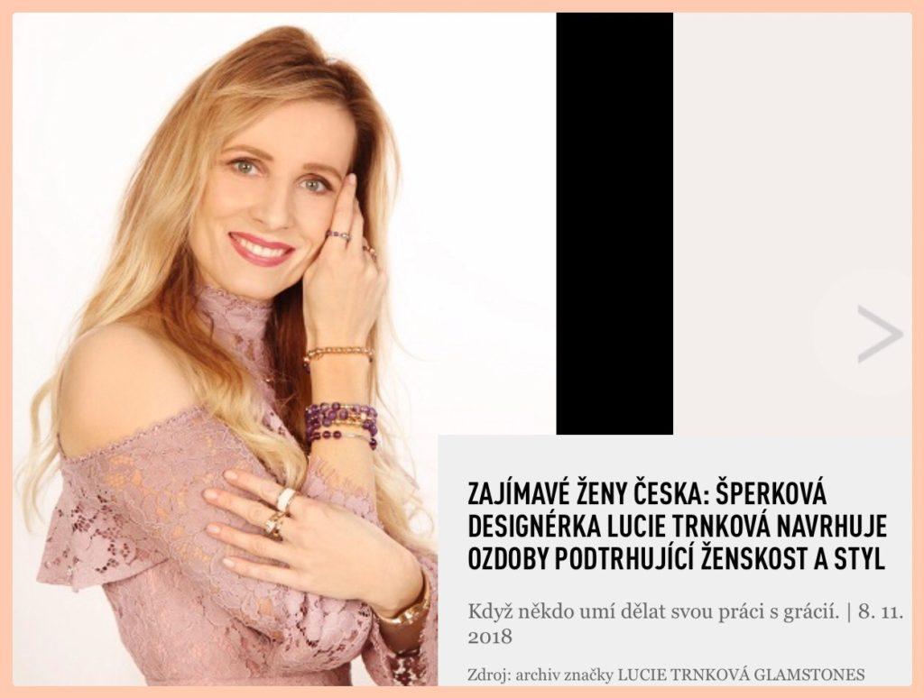 Lucie Trnková Glamstones návrhářka designérka šperky drahé kameny kůže luxus