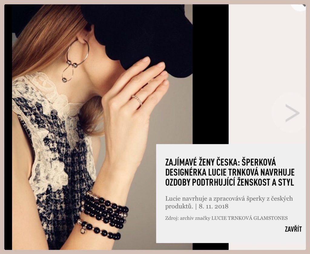 Lucie Trnková Glamstones návrhářka designérka šperky drahé kameny kůže